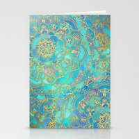 Sapphire & Jade Stained … Stationery Cards