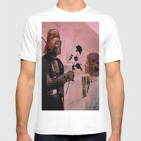 Darth Loves Leia Mens Fitted Tee White SMALL