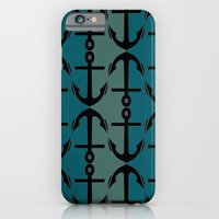 iPhone & iPod Case featuring Ocean Anchors by ParadiseApparel