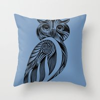 Tribal Owl Throw Pillow