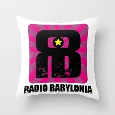 Radio Babylonia Throw Pillow