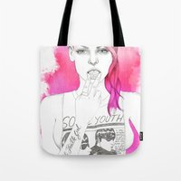 Little Trouble Girl Tote Bag