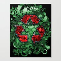 Recycle World - Green Canvas Print