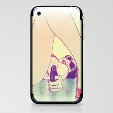 Girl With Gun 2 iPhone & iPod Skin