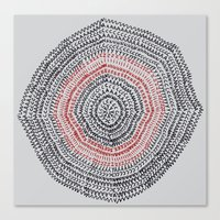 Vacancy Zine Mandala I A Canvas Print
