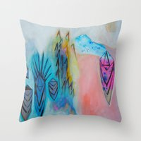 Eternal Calm - Caves and Crystals Throw Pillow