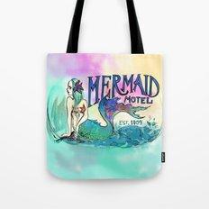 Mermaid Motel Tote Bag
