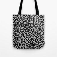 Gray Black Leopard Tote Bag