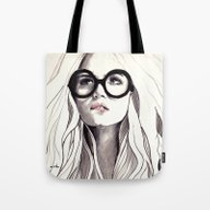 Tote Bag featuring Can't Remember His Name by Anna Hammer