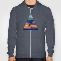 Palms and sunset triangle Hoody
