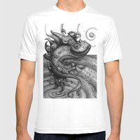 Miss Fish Mens Fitted Tee White SMALL