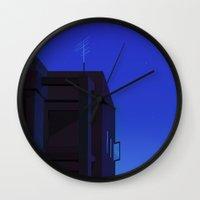 The city at night Wall Clock