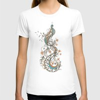 peacock T-shirts featuring Peacock by Tracie Andrews