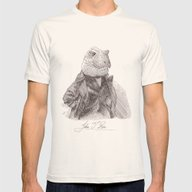 John T. Rex Mens Fitted Tee Natural SMALL