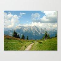 Mountain Range In Austri… Canvas Print