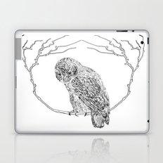 Owl In Tree (Print) Laptop & iPad Skin