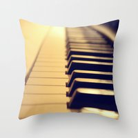 Ebony And Ivory Throw Pillow