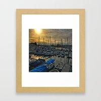 Sunset In Shoreline Framed Art Print