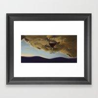 Red Overhead I Framed Art Print