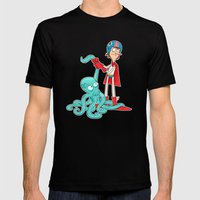 Octo-Wrestlin'! Mens Fitted Tee Black SMALL