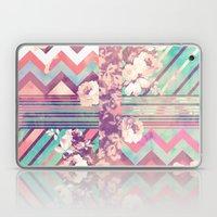 Retro Pink Turquoise Flo… Laptop & iPad Skin