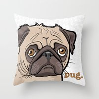Lilly (pug) Throw Pillow