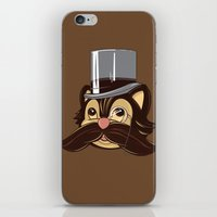 Cat And Moustache iPhone & iPod Skin
