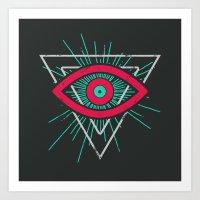 Illuminati (alt Color) Art Print