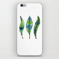 Mystic Sea Feather Trio iPhone & iPod Skin