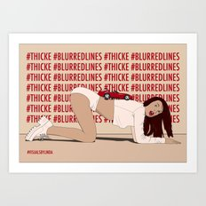 Blurred Lines Art Print