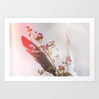 of feathers and flowers | 02 Art Print