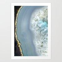 Blue Agate II Art Print