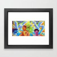5 friends Framed Art Print