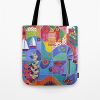 Water Front Village Tote Bag