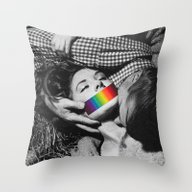 Throw Pillow featuring Consensually So by Eugenia Loli