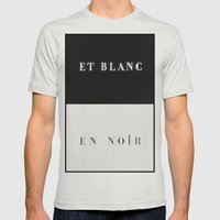 Et Blanc En Noir Mens Fitted Tee Silver SMALL