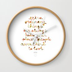 Extraordinary things Wall Clock