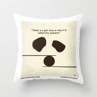 No227 My KUNG FU Panda minimal movie poster Throw Pillow