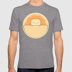 Pancake Breakfast Mens Fitted Tee Tri-Grey SMALL