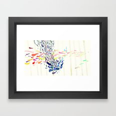 Keep moving and see you again Framed Art Print