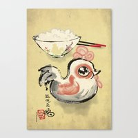 The Asian Chicken Rice B… Canvas Print