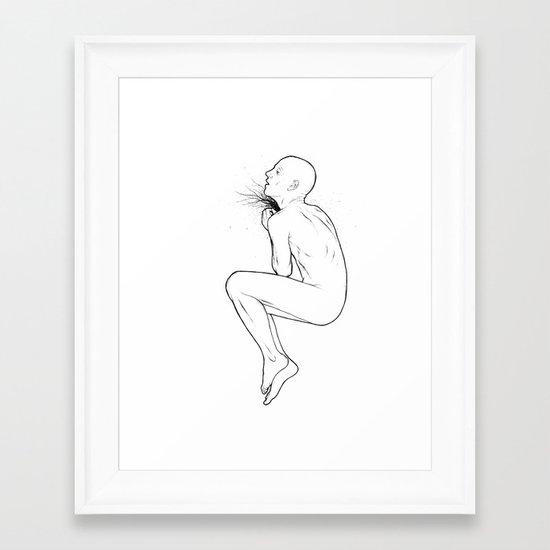 And Throat Framed Art Print