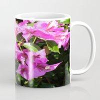Purple Pink Bougainvillia In Blossom  Mug