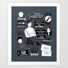 Horrible's Quotes Art Print