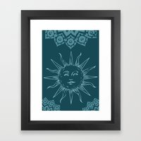 Sinshine pattern Framed Art Print