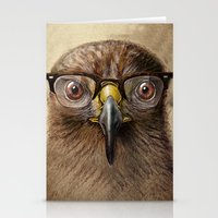 Hipster Eagle Stationery Cards
