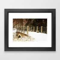 A winter crossing Framed Art Print