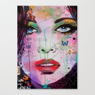 Canvas Print featuring Reckless by LouiJoverArt