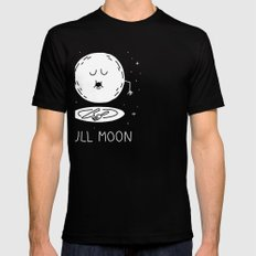 Full Moon Black Mens Fitted Tee SMALL