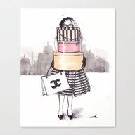 Shopping Junkie Canvas Print